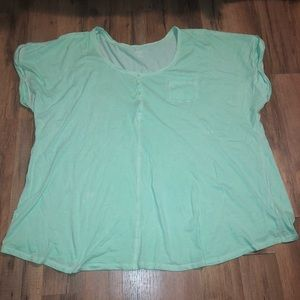 Lane Bryant Oversized mint T-shirt Blouse
